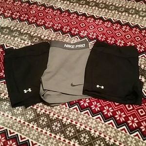Nike Pro and Under Armour